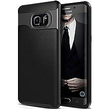 Funda Galaxy S6 Edge Plus, Caseology [serie Wavelength] Fina cubierta protectora de doble capa con sujecion texturizada [Negro - Black] para Samsung Galaxy S6 Edge Plus (2015)