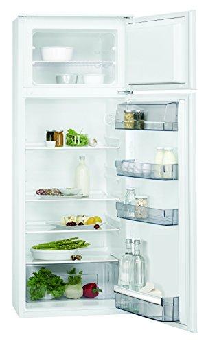 AEG SDB51421AS Einbau Kühl-Gefrier-Kombination mit Gefrierteil oben / 180 Liter Kühlschrank / 38 Liter Gefrierschrank / sparsamer Einbaukühlschrank mit Gefrierfach und Glasablagen / A++ (196 kWh/Jahr) / Einbau-Höhe: 144,6 cm / weiß