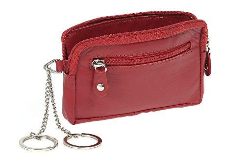 Pochette pour clés LEAS, cuir véritable, rouge - ''LEAS Special Edition''