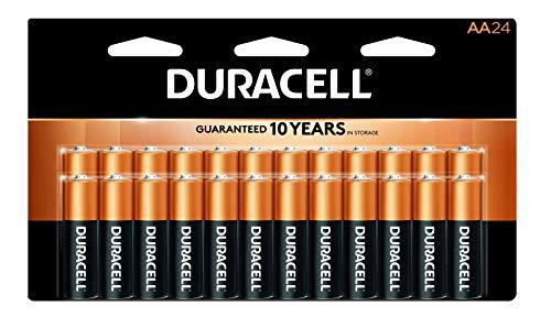 Duracell CopperTop AA Alkaline-Batterien, langlebig, Allzweckbatterie für Haushalt und Geschäft, 24 Stück Duracell Coppertop Alkaline-aa-batterien