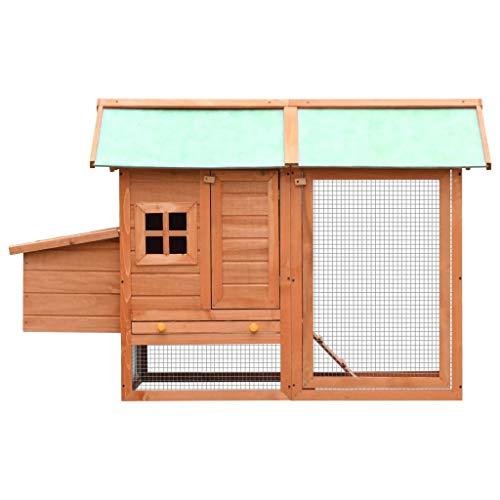 Mewmewcat gabbia per polli in legno massello di pino e abete 170x81x110cm