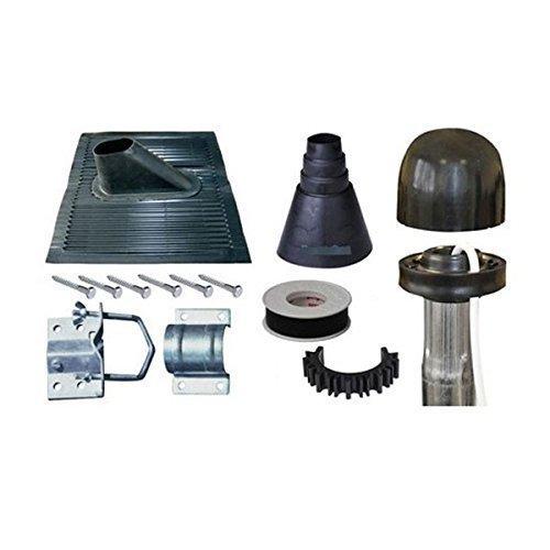 dura-sat-set-di-montaggio-su-tubo-dur-line-n-3-con-1-tegola-in-alluminio-nera-1-tappo-con-punto-di-i