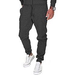 MERISH Pantalones Jogger Hombre Deportivos Joggers Modell 211 Antracita S