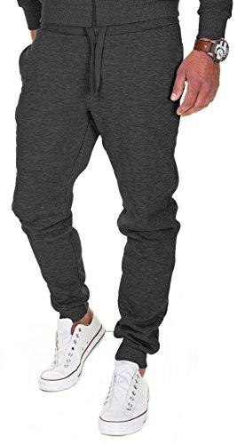 Merish Pantalons de Sport pour Homme Pantalons pour Les Loisirs, Les Sports et la Maison Modell 211 Noir L