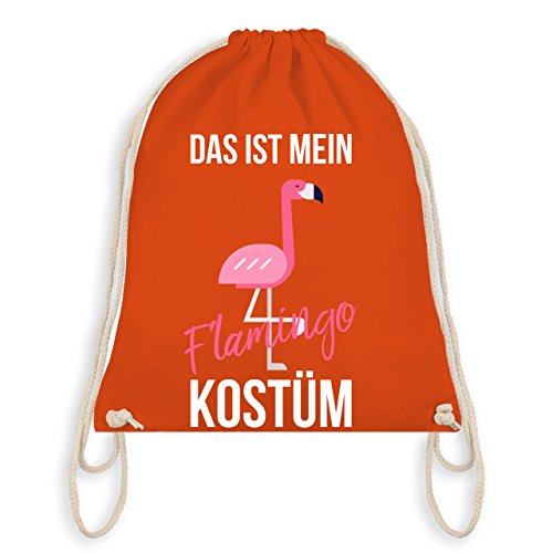 (Karneval & Fasching - Das ist mein Flamingo Kostüm - Unisize - Orange - WM110 - Turnbeutel & Gym Bag)