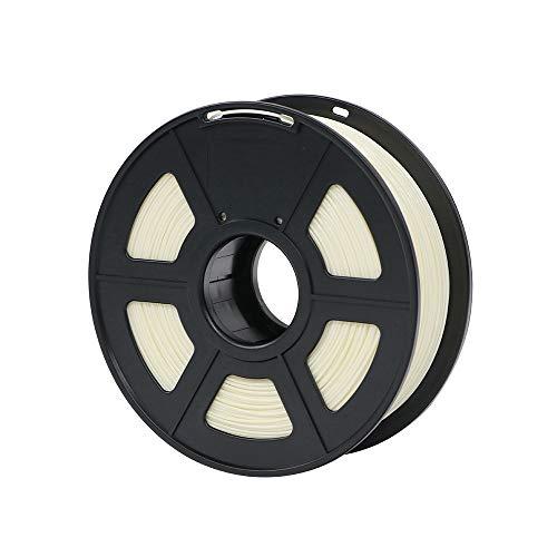 No logo x-xiazhi, plastica del filamento 1.75mm di pla for stampante 3d 1kg / rotolo materiali di consumo di gomma facoltativi di colori di 28 colori for stampare (colore : ivory)