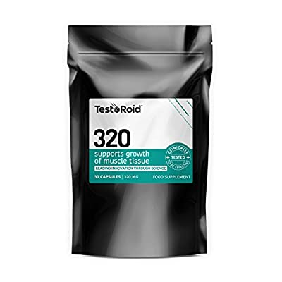 Testoroid 320 Testosterone Booster **powerful Natural Body-building Supplement** Build Muscle Increase Strength & Stamina Uk Manufactured Simply The Best 100% Money Back Guarantee by TestoRoid