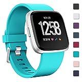 Zekapu Bracelet pour Fitbit Versa/Fitbit Versa Lite, Fitbit Versa Bandes Remplacement Silicone Sport Réglable Bracelet Accessoire pour Fitbit Versa/Fitbit Versa Lite, Grand Petit, 12 Couleurs