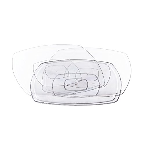 Servizio piatti in plastica, 6 pezzi