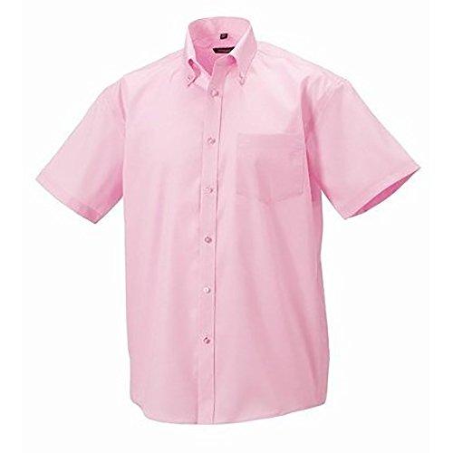 Russell Collection Herren Hemd, Kurzarm, bügelfrei Schwarz
