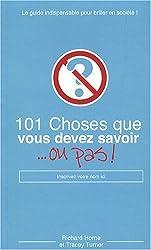 101 CHOSES QUE VOUS DEVEZ SAVO