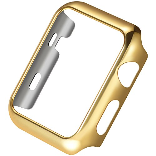 Pinhen Apple Watch Custodia HOCO iWatch Plated Metal Bumper Protettivo Case Cover Custodia per Apple Watch Series 2 (Gold, 42MM)