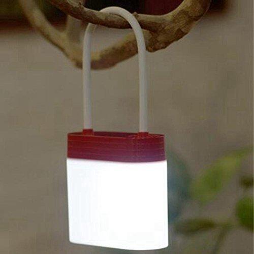 FACAIG Vielzahl von Vorhängeschloss Lampe kreative Stifthalter Schreibtisch Lampe LED Eye Leselampe über USB aufladbaren Dimmbar Camping Leuchten, rot (Pol Wechseln)