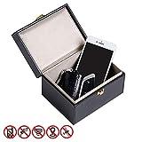 TRIXES Schlüssel Tresor Safe Box - Schlüssel Box Passend für Mercedes Benz BMW und Anderen gängigen Marken und Typen Zubehör Faraday Mesh - Diebstahlsicherung RFID Blocking für Smart Keys und Autos