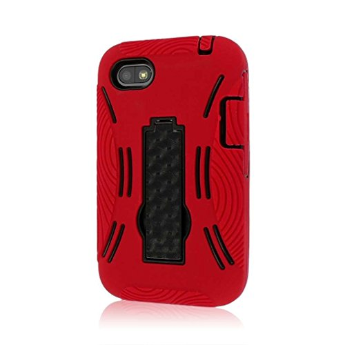 MPERO Impact XL Series Kickstand Case Tasche Hülle for BlackBerry Q5 - Red