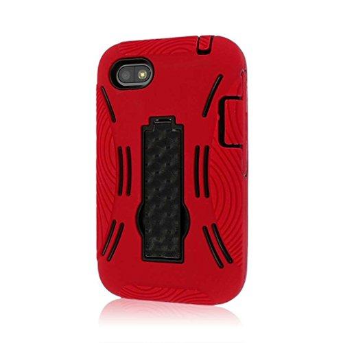MPERO IMPACT XL Series Kickstand Case Tasche Hülle for BlackBerry Q5 - Red