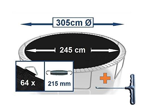 Sprungtuch Sprungmatte Ersatzteile für Trampolin Ø 305 cm 64 Ösen (Federn 21,5 cm)