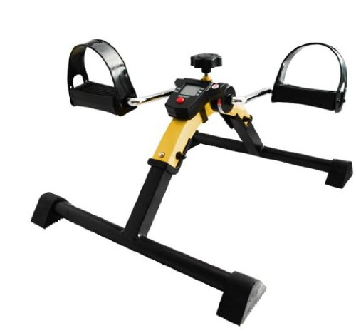 GELBER Bewegungstrainer digital Pedaltrainer Beintrainer Armtrainer Arm Bein Trainer