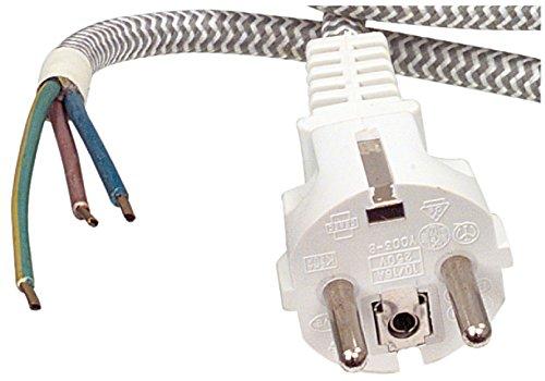 Eurosell - Profi Gewebe Bügeleisenkabel zb für Siemens Rowenta Philips Tefal Clatronic Bomann AEG Bosch Severin Bügeleisen Kabel ersatz Zuleitung 3m