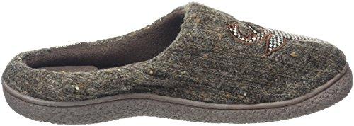 Isotoner Mens Novelty Mule, Pantofole Uomo Grey (taupe)