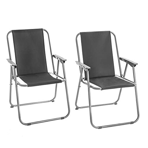 ESTEXO Campingstuhl Klappstuhl 2er Set Outdoor Camping Stuhl klappbar tragbar