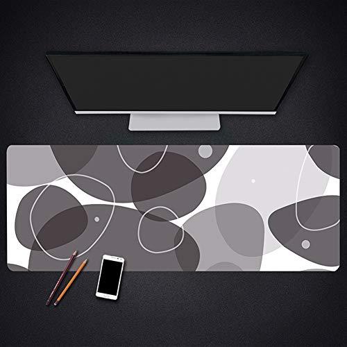 Insun Mauspad Große Mausmatte mit Verstärkte Kanten Schreibunterlagen Anti Rutsch Matte Schreibtischunterlage Wasserdicht für Büro und Zuhause Kreis 40x90cm -