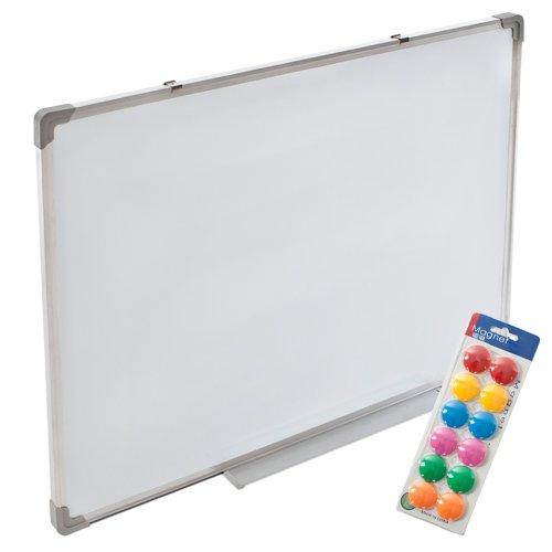 tectake-2-in-1-whiteboard-und-magnettafel-weiss-60x45-cm-mit-stabilen-aluminium-rahmen-und-inklusive