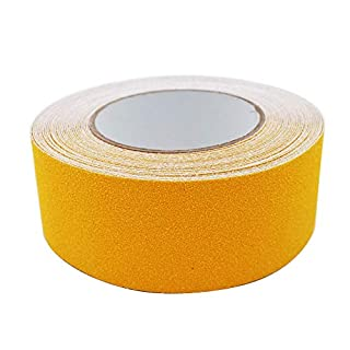 ARTGEAR Adhesive Anti-Slip Safety Tape, Skid Tape Roll, High Traction Strong Grip Abrasive, Residue Free Adhesive, Use Indoor and Outdoor (5cm x 10m, Yellow)