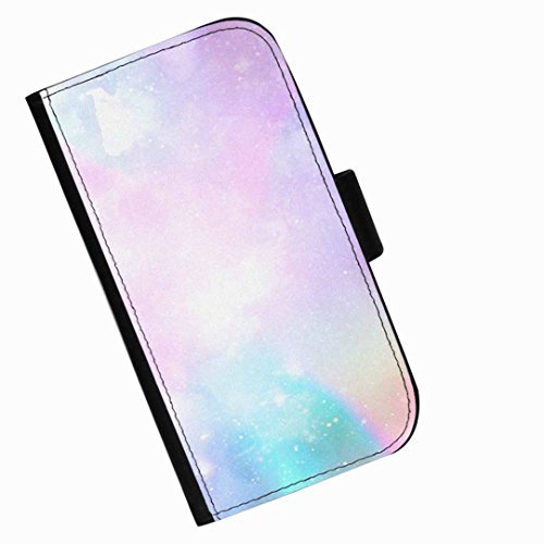 Hairyworm - Mixture of pretty pastel colours Huawei P8max leather side flip wallet phone case, cover with card slots, money slot and magnetic clasp to close. Huawei P8 max photo phone case