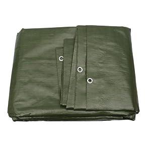 G.F. - Telo di protezione linea top 260g/m², 23 diverse misure, colore: Verde/Bianco a scelta