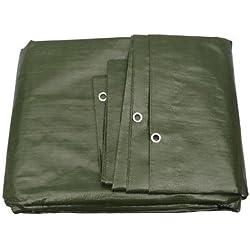 Bâche de protection textile haut de gamme, 260 g/m², disponible dans 23 dimensions, couleur : vert ou blanc au choix Bâche de protection - Housse pour bateau - Bâche pour bois.