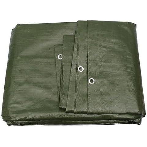 G.F. - Telo di protezione linea premium 140g/m², 25 diverse misure, colore: Verde/Bianco a scelta