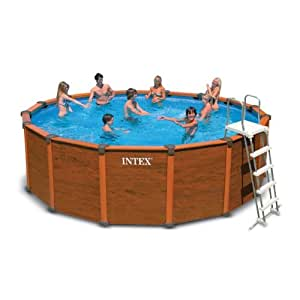 Piscine fuori terra effetto legno sequoia spirit intex for Piscine intex amazon