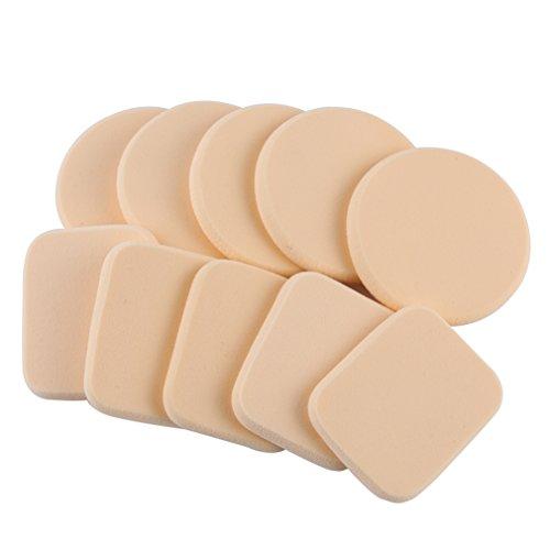 Gracelaza 10 pièces Blender Éponge de Maquillage - Pour appliquer base, fond de teint, correcteur - Poudre libre sans latex, hypoallergénique et sans odeur #1