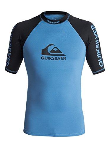 Quiksilver On Tour Lycra-Shirt mit UV Schutz UPF 50, Herren M Blau brillant/Schwarz