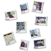 Umbra - Set de 9 marcos de fotos, diseño de postal, color blanco