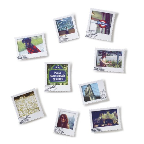 Set 9 portafoto cartolina postale scrivibile