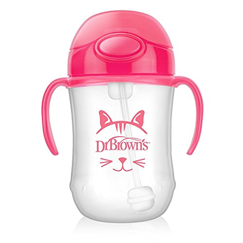 Dr Brown 's Baby 's First Stroh Cup, 270 ml, pink