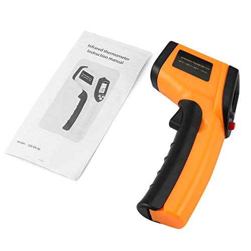Elviray Berührungslose LCD-Anzeige IR-Laser-Infrarot-Digital-Temperaturmesser-Sensor-Thermometer-Punkt mit Datenhaltefunktion -