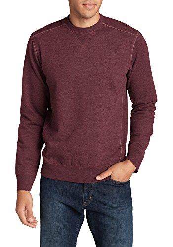 Eddie Bauer Herren Camp Fleece Sweatshirt, Gr. XL, Burgunder meliert Camp Fleece