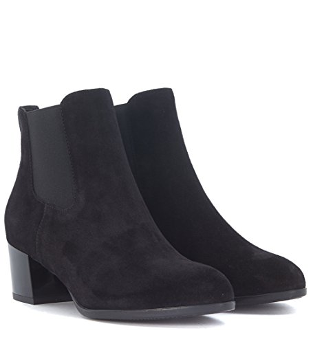 Hogan Chelsea Boots H272 Wildleder Schwarz Schwarz