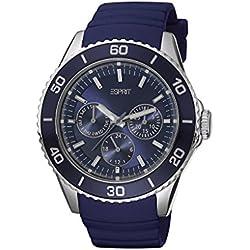 Esprit Women's Deviate Analogue Quartz Watch with blue rubber strap ES103622004