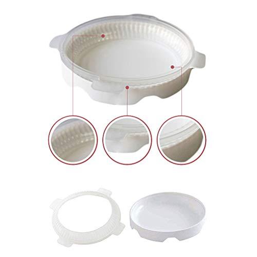 Kongnijiwa Weiß Silikon Runde Schneideisen Mousse-Plätzchen-Form-Plätzchen-Form-Kuchen-Backen-Werkzeuge Cutter