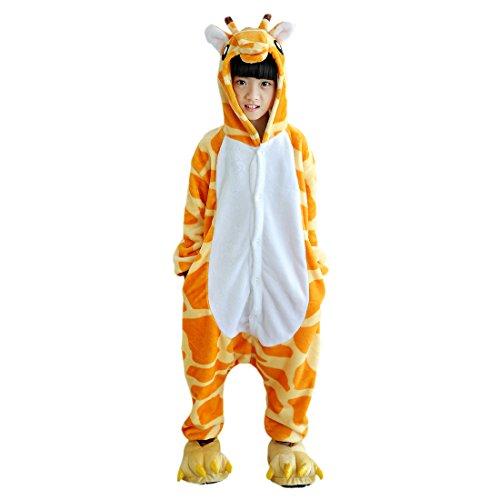 Darkcom bella bambini tutina pigiameria cartoon cosplay onesies pigiama giraffa