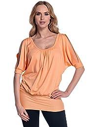 Glamour Empire para mujer Camiseta Top de jersey Hombros Descubiertos. 221