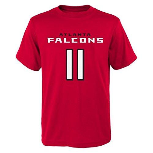 Outerstuff NFL Julio Jones # 11Jugend Jungen 8-20Namen und Nummer Short Sleeve Tee, Jungen, rot, Youth X-Large (18) -