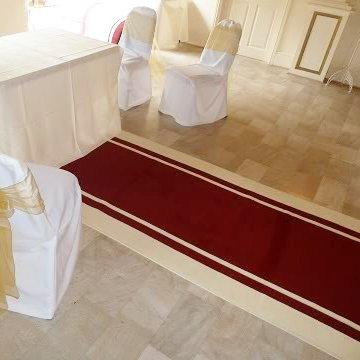 Stripe Red - Wedding Aisle Carpet Runner