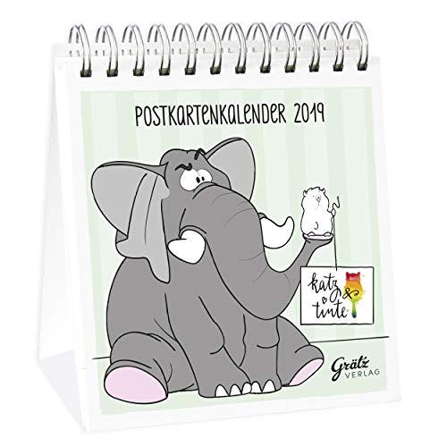 Katz & Tinte Postkartenkalender 2019