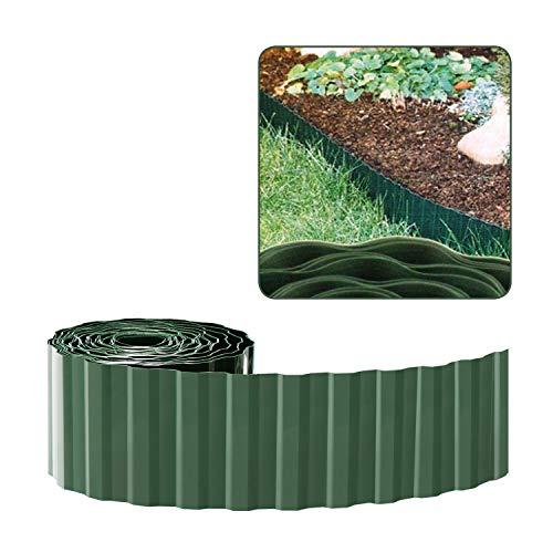 com-four® Rasenkante aus Kunststoff – Beeteinfassung für Rasen, Blumenbeet oder als Mähkante