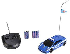 Dickie 201119213 - Coche de policía Lamborghini teledirigido, Color Azul Importado de Alemania